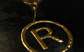 Registered Trademark being poured from molton Gold