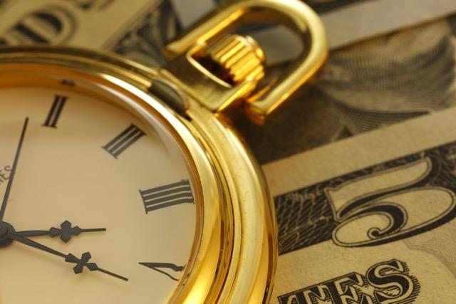 Closeup of a Gold Pocket Watch